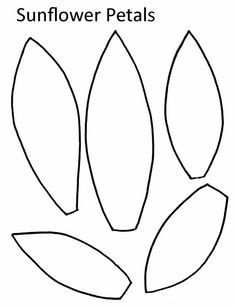 graphic regarding Sunflower Template Printable named Sunflower Leaf Template Printable - Floss Papers