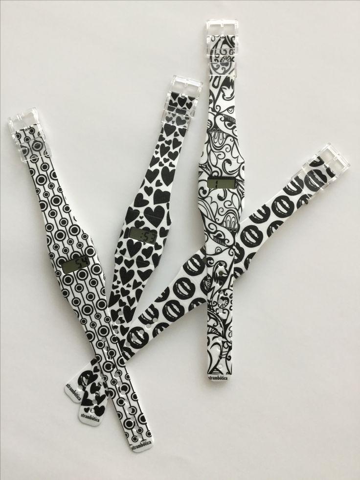 Relojes strambóticos, fabricados en papel Tivek, ecológicos, resistentes al agua y 100 % reciclables. www.strambotica.es