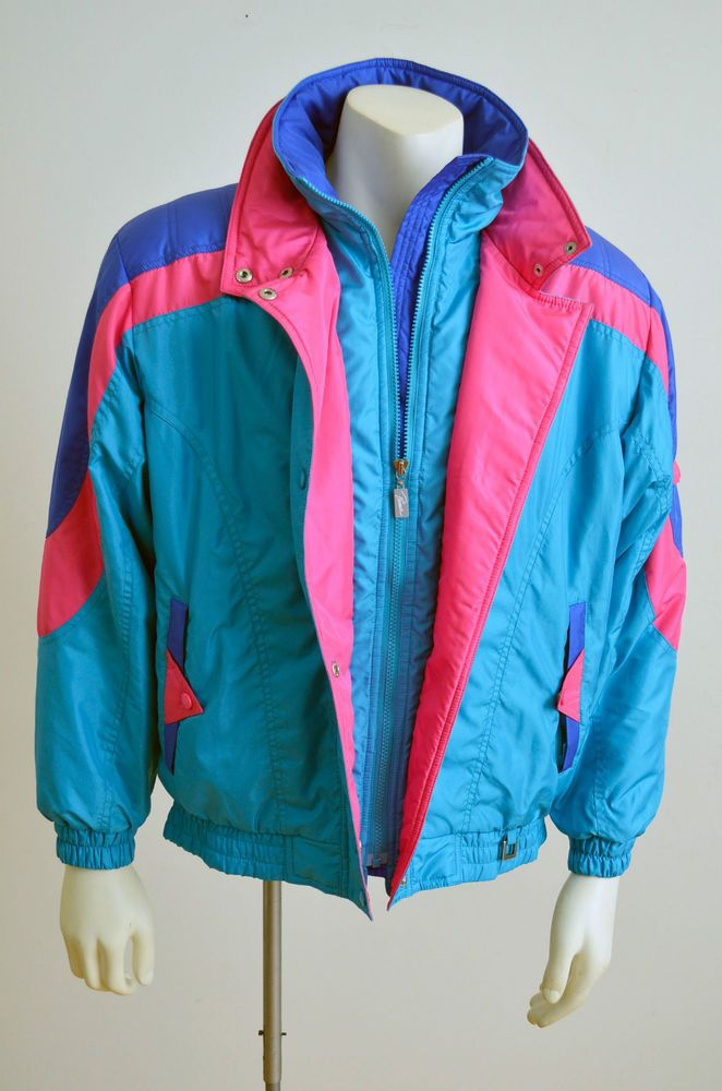 Prima Futurski -  Vintage Colorful Women's Winter Ski Skiing Jacket - Size M #PrimaFuturski
