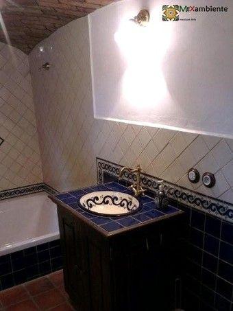 101 best Mexikanische Waschbecken images on Pinterest Bathrooms - designer waschbecken badezimmer stil