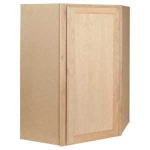 24x30x24 in. Corner Wall Cabinet in Unfinished Oak CW2430OHD at The Home Depot - Mobile