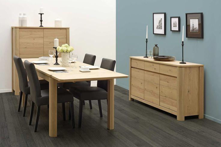 Mobila sufragerie moderna furnir de stejar Malo 2