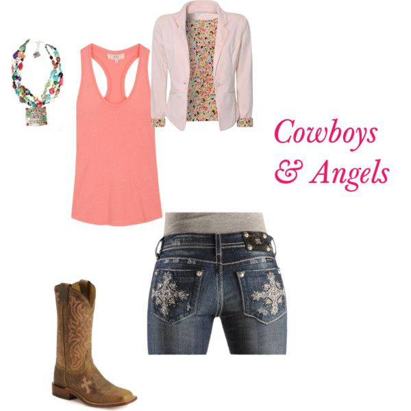 cowboys and angels, created by cowgirl14 on Polyvore: Cowgirl Clothes, Country Girl S, Cowboys And Angels, Dream Closet, Girl Outfits, Country Girls, Cowgirl Swag, Country Style ️, Angels Love