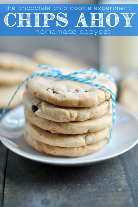 Homemade Chips Ahoy recipe - use with diary free chocolate chips.
