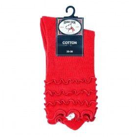 Bonnie Doon frou frou sokken rood