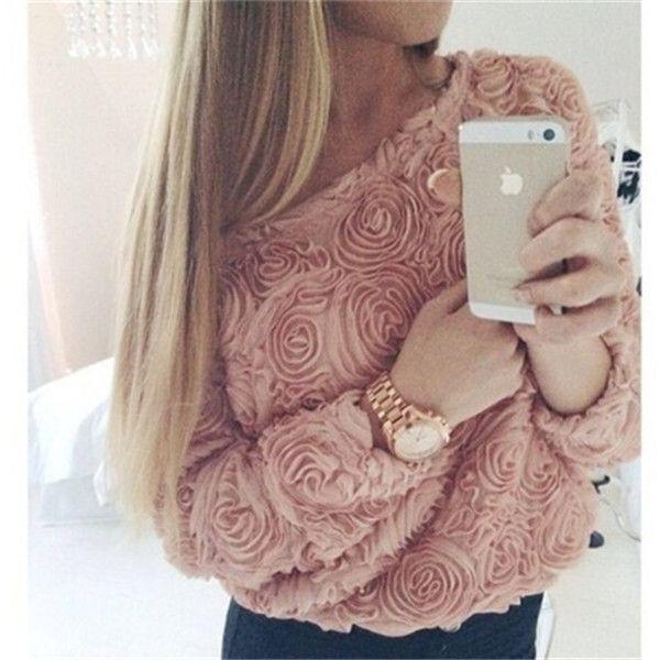 Europa marcas revestimento das mulheres camisola 3D Rose flor moda Casual manga comprida branca das senhoras fino Jumper 30207 em Pulôvers de Roupas e Acessórios Femininos no AliExpress.com | Alibaba Group