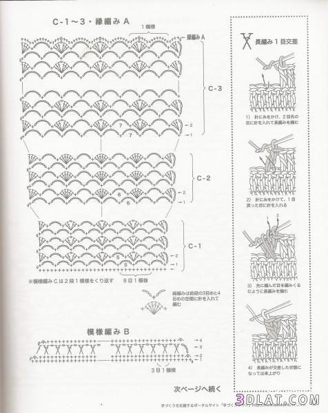 بلوزة كروشية صيفى للبنات فستان وبالباترون 13654658306.jpg