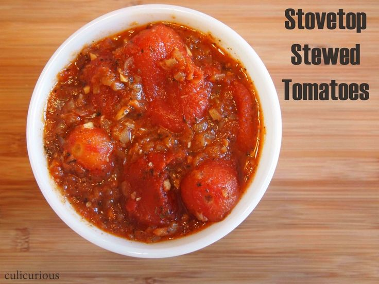 Delicious & Healthy: Stovetop Stewed Tomatoes Recipe (Italian-style)