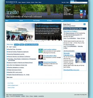 Fourteen University Intranet Home Pages