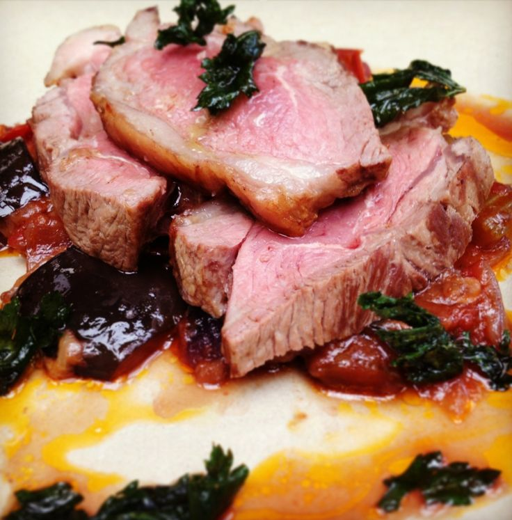 ... Course Recipes on Pinterest   Eggplant caponata, Pork belly and Chefs