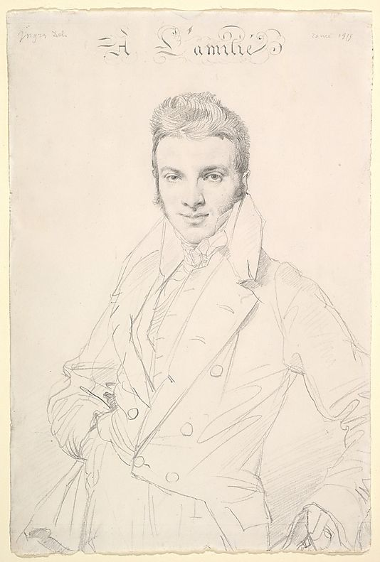 Portrait of Jean-Joseph Fournier, 1815.  By Jean-Auguste-Dominique Ingres (1780-1867) - Jean Baptiste Joseph Fourier (1768 -1830) was a French mathematician & physicist born in Auxerre & best known for initiating the investigation of Fourier series & their applications to problems of heat transfer & vibrations. The Fourier transform & Fourier's Law are also named in his honour. Fourier is also generally credited with the discovery of the greenhouse effect.