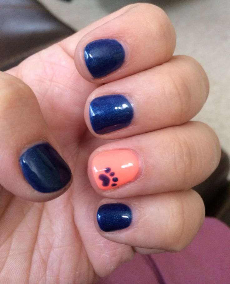 Best 25 paw print nails ideas on pinterest animal nail designs detroit tigers nails prinsesfo Image collections