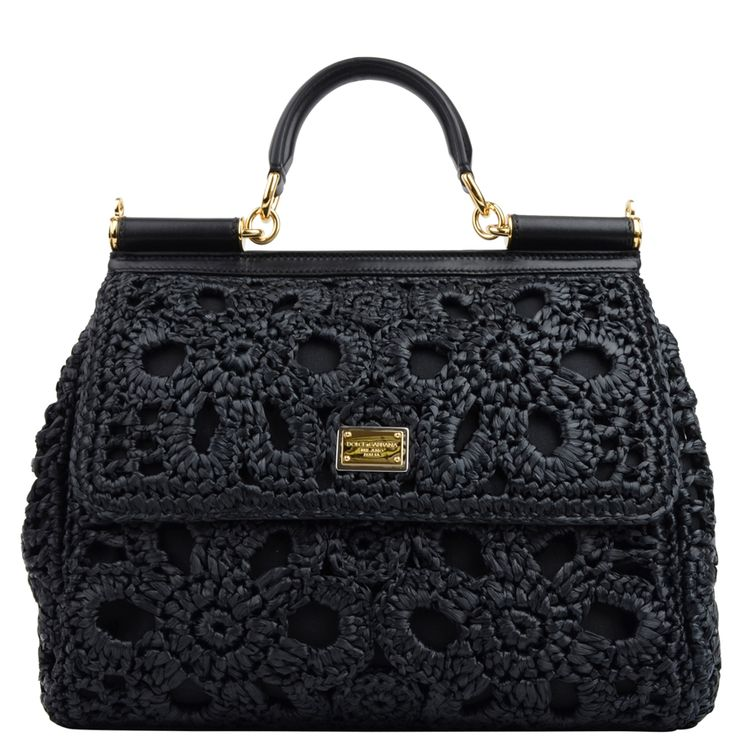 DOLCE & GABBANA Raffia Miss Sicily Bag at Flannels Fashion