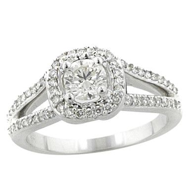 14K Gold 0.81 Carat Diamond Outline Ring    #ilovetoshop