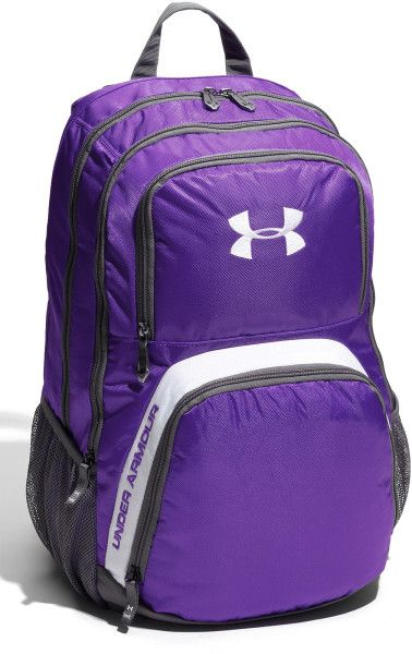 purple under armour backpack | Under Armour Victory Backpack in Purple for Men (chisel/graphite/white ...
