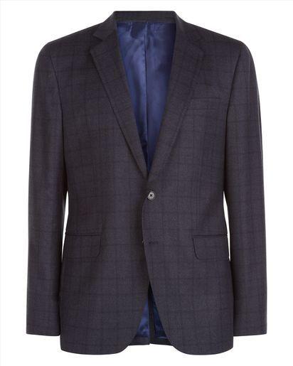 Wool Shadowcheck Slim Jacket