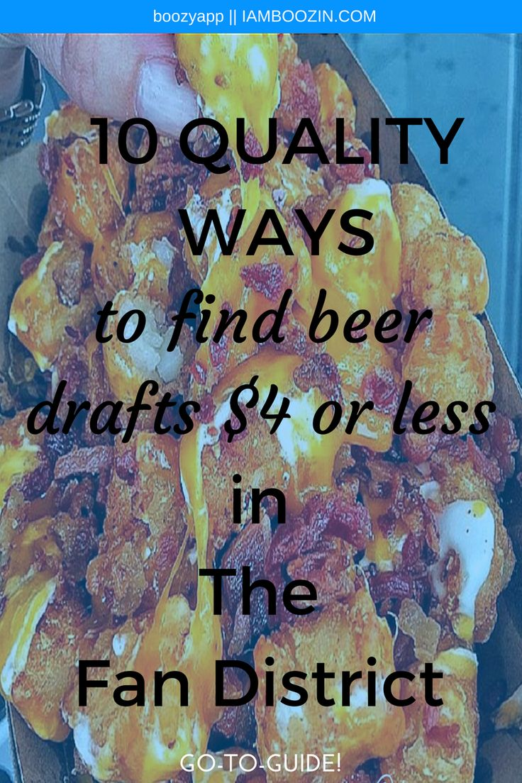 Richmond Beer | 10 Quality Ways To Find Beer Drafts $4 Or Less In The Fan District [Go-To-Guide]...Click through for more!