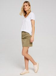 Mavi Alice Skirt In Khaki Wash Twill