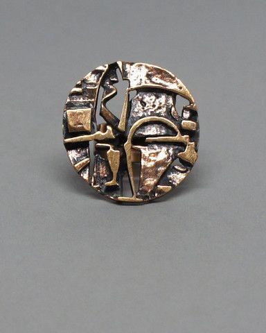 Jorma Laine Large Bronze Cocktail Ring