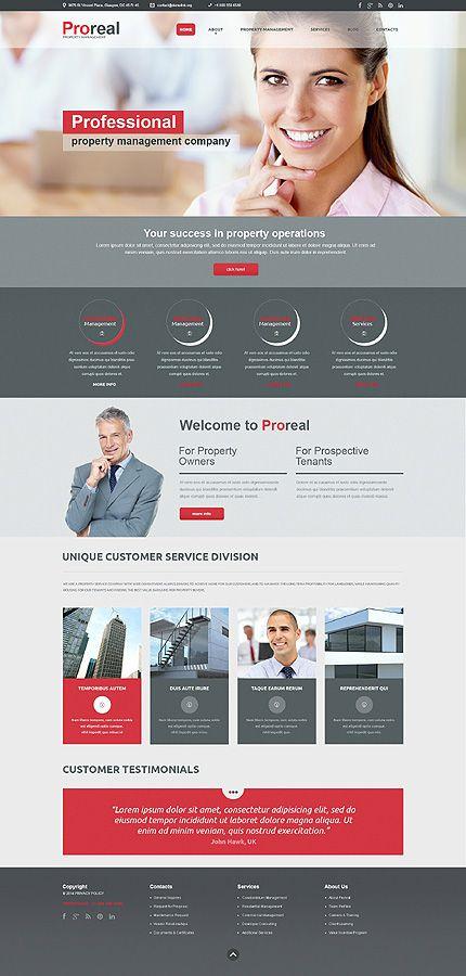 Template 49382 - Real Estate Agency Responsive Website Template líbí se mi ten chlap uprostřed ... trochu se to tím bannerem rozrazilo