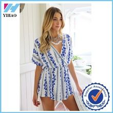 Trade Assurance Yihao New 2015 Women Sexy V-Neck Printed Bodycon Playsuit Jumpsuit Best Buy follow this link http://shopingayo.space