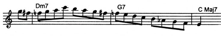 Bebop lick played over a ii V7 I from Tom Harrell. | Jazz Trumpet Licks