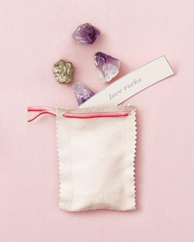 Love rocks favors!