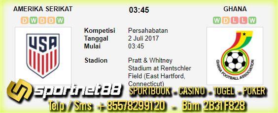 Prediksi Skor Bola Amerika Serikat vs Ghana 2 Jul 2017 Persahabatan di Pratt & Whitney Stadium at Rentschler Field (East Hartford, Connecticut) pada hari Minggu jam 03:45