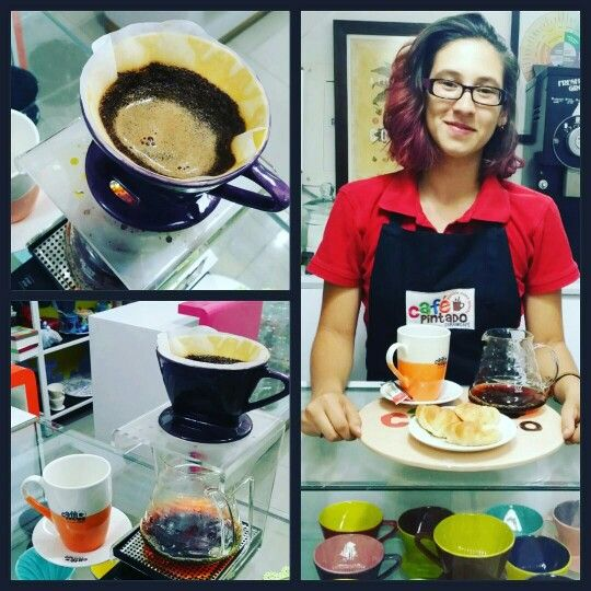 Coffee Time in Café Pintado. Specialty Coffee. Cali - Colombia Ceramicafe.
