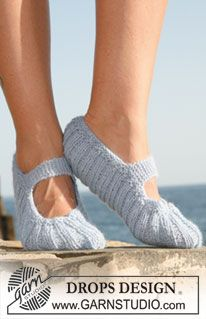 """""""Drops"""" Slippers, by DROPS Design.  Love pretty much every pattern these guys put out."""