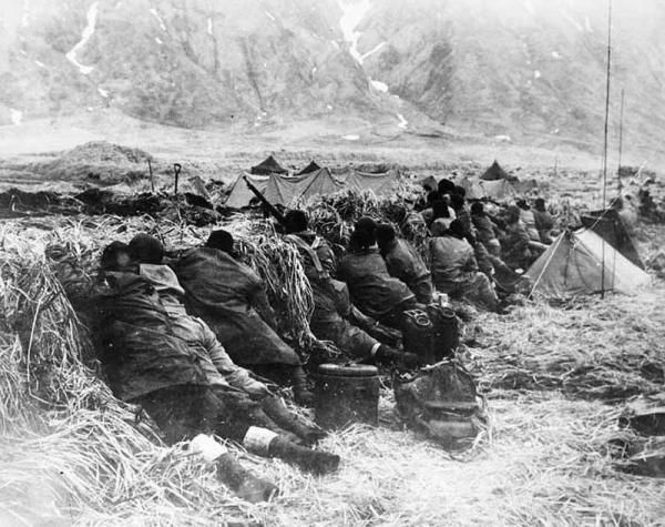 The Battle of the Aleutian Islands (June 1942-August 1943) during World War II (1939-45), U.S. troops fought to remove Japanese garrisons established on a pair of U.S.-owned islands west of Alaska. In June 1942, Japan had seized the remote, sparsely inhabited islands of Attu and Kiska, in the Aleutian Islands.