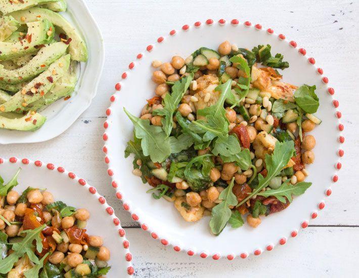 Chickpea, Sun-Dried Tomato and Chickpea Salad