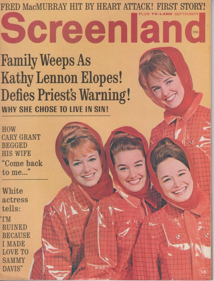 The Lennon Sisters on the September 1967 Screenland