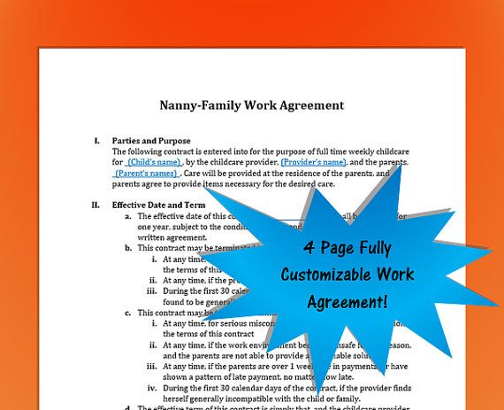 18 best NannyLikeAPro images on Pinterest Resume templates - nanny contract template