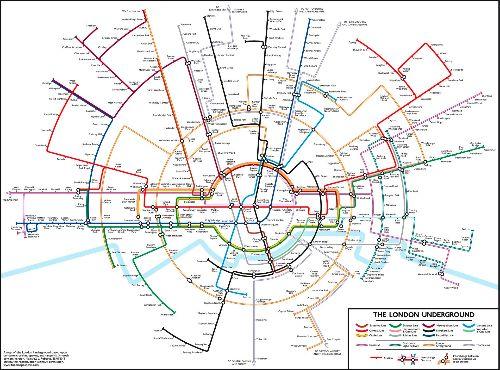 Plan du métro de Londres circulaire par Max Roberts                                                                                                                                                                                 Plus