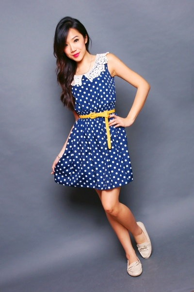 Cute polka dot dress.