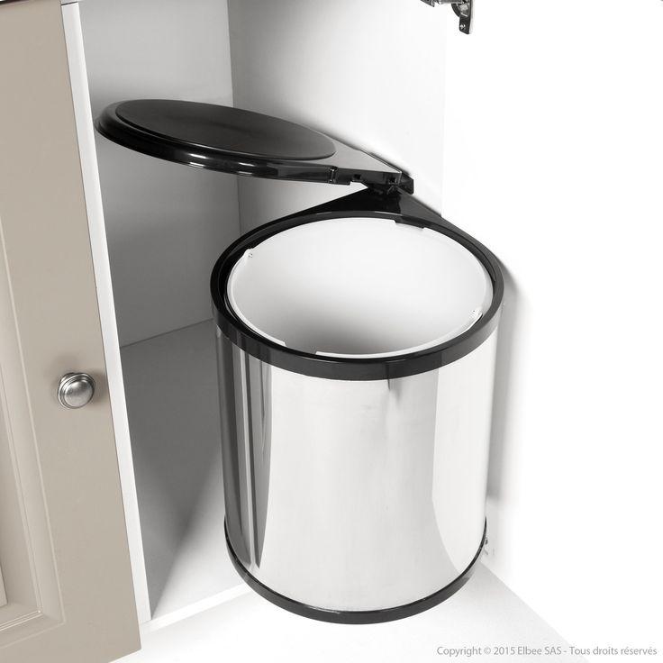 inox Dimensions du placard : Hauteur : minimum 40 cm Largeur : minimum 36.4 cm Seau intérieur Couvercle plastique Livré avec vis et plan de montage Les plus produit :...