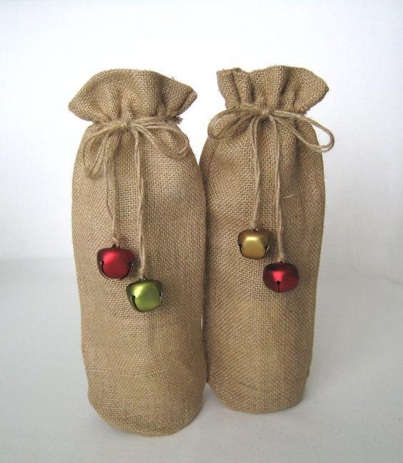 christmas jute gift bags - Google Search