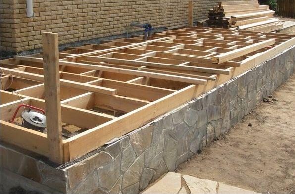 Фундамент для пристройки к основному дому