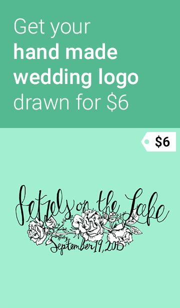 Get your handmade wedding logo drawn for $6