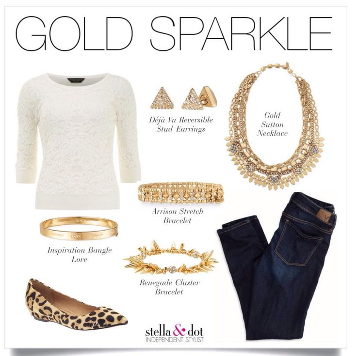 Gold accessories with the perfect amount of sparkle! www.stelladot.co.uk/justinedaw