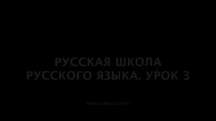 Виталий Сундаков - Русская Школа Русского Языка. Урок 3 / 22 ноября 2015