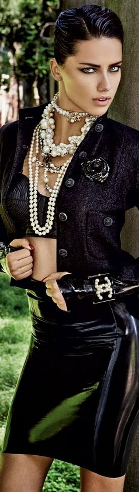 Adriana Lima for Vogue Brazil October 2013, Don't go for Chanel usually but this reminds me of the grand Ines days...