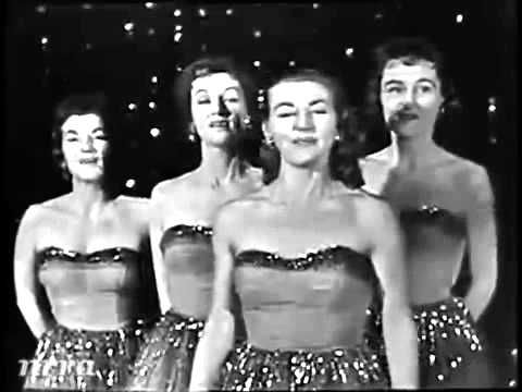 """The Chordettes - """"Mr  Sandman"""" (Live 1958) songs that filled my childhood."""