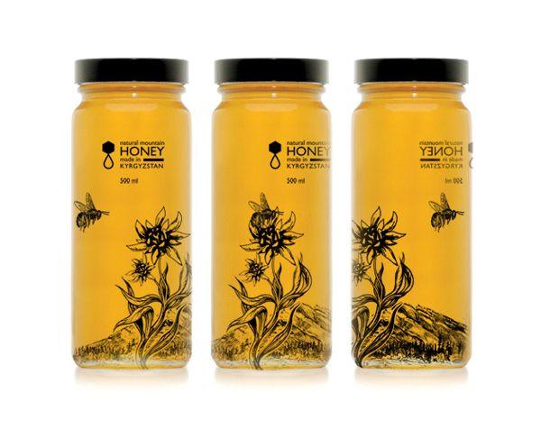 Honey packaging design concept by Daria Dahoo, via Behance