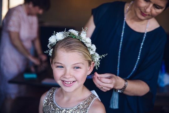 child's flower crown of small flowers http://wanakaweddingflowers.co.nz/gallery/