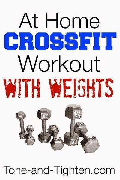 Weekly Workout Plan- At-Home Crossfit Workouts