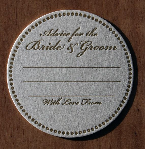 30 Advice for the Bride & Groom Letterpress by LetterpressArt, $35.00