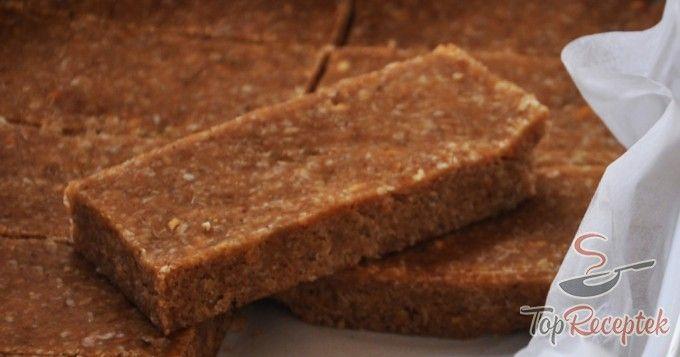 Fitnesz szelet sütés nélkül, 4 alapanyagból