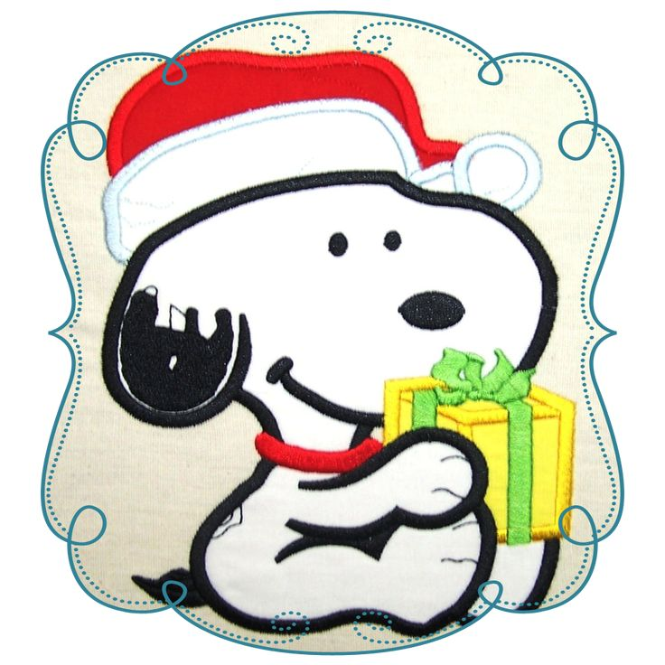Snoopy Applique Machine Embroidery Design Pattern-Loves Applique